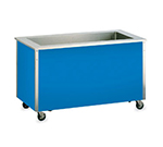 "Vollrath 36243 46"" Non-Refrigerated Cold Food Bar - 3 Full Size Pan Wells, 27x46x28, Stainless"