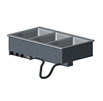 Vollrath 3640581 3-Well Modular Drop-In - Thermostat, Manifold Drain, Auto Fill, 1000W,