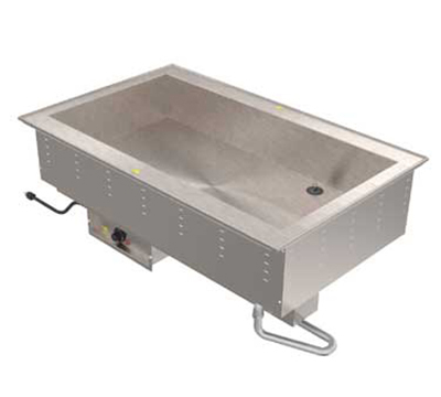 Vollrath 36504 208 4-Well Bain Marie Drop-In - Thermostat Control, Standard Drain, 2500W 208v