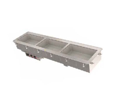 Vollrath 36643 3-Well Short-Sided Drop-In - Infinite Control, Standard Drain, 625W 120v
