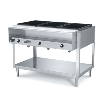 Vollrath 38118 4-Well Hot Food Table - (4)Thermostat, Plate Rest, Cutting Board, 208-240v
