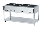 Vollrath 38204 4-Well Hot Food Table - (4) Thermostat, Drain 120v