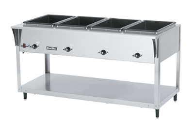 Vollrath 38214 4-Well Hot Food Table - (4) Thermostat, Drain 700W 120v