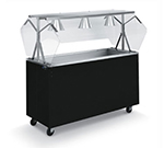 Vollrath 38714 3-Well Cold Food Station - Breath Guard, Non-Refrigerated, Black Open Base