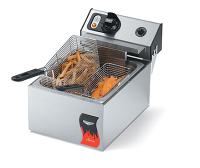 Vollrath 40705 Countertop Electric Fryer - (2) 10-lb Vat, 110v