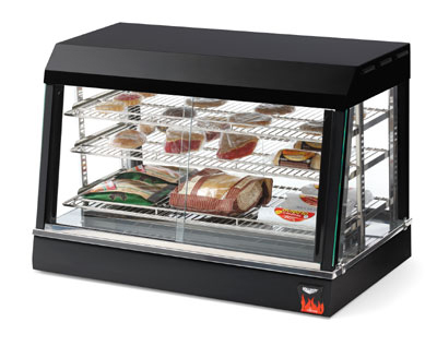 "Vollrath 40733 26"" Countertop Hot Food Merchandiser - 3 Adjustable Shelves, Thermostat 120v"