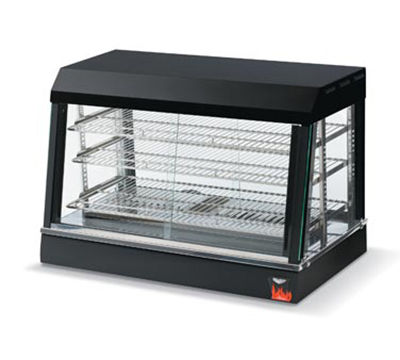 "Vollrath 40734 36"" Countertop Hot Food Merchandiser - 3 Adjustable Shelves, Thermostat 120v"