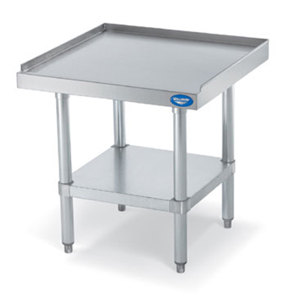 "Vollrath 40741 Equipment Stand with Shelf - 36x24x26"" Stainless Top, Galvanized Legs"