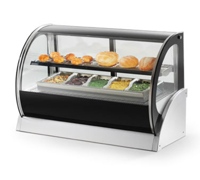 "Vollrath 40852 36"" Full Service Deli Case w/ Curved Glass - (2) Levels, 120v"