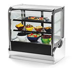 "Vollrath 40866 48"" Cubed Glass Countertop Heated Display Cabinet - 3 Shelves, 120v"