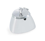 Vollrath 46000 8.5-oz Covered Sugar Bowl - Triangular Body Design, Mirror-Finish Stainless