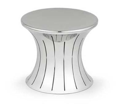 """Vollrath 46017 Medium Buffet Riser - 7"""" Hourglass Shape, Stainless"""