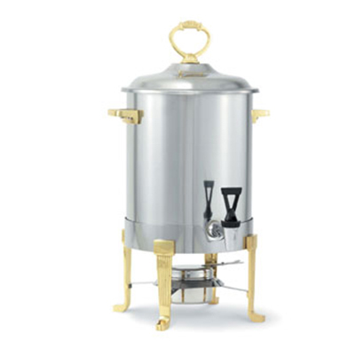 Vollrath 46029 3-Gal Coffee Urn - Brass-Trim, Fuel Holder Included, Stainless