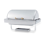 Vollrath 46258 9-qt Rectangular Chafer Drop-In - Dome Cover, Stainless