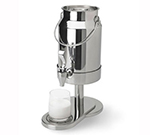 Vollrath 4635110 5-qt Milk Dispenser - Handles, Pedestal Base, Stainless
