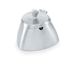 Vollrath 46400 8.5-oz Covered Sugar Bowl - Triangular Body Design, Satin-Finish Stainless