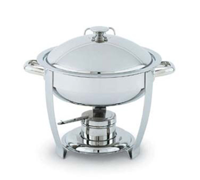Vollrath 46503 4-qt Round Heavy-Duty Chafer - Built-In Cover Holder, Mirror-Finish Stainless