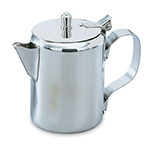 Vollrath 46516 10-oz Creamer/Server - Hinged Cover, Stainless