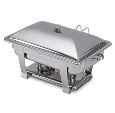 Vollrath 46518 9-qt Heavy-Duty Full-Size Chafer - Built-In Cover Holder, Mirror-Finish Stainless