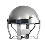 Vollrath 46530 6-qt Roll-Top Round Chafer with Heater - Mirror-Finish Stainless