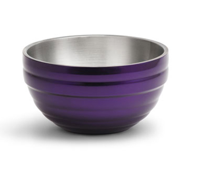 Vollrath 4659165 3.4-qt Round Insulated Bowl - 18-ga Stainless, Passion Purple