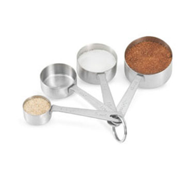 Vollrath 46589 4-Piece Straight-Sided Measuring Spoon Set - 1-Tsp - 2-Tbsp, 18-ga Stainless