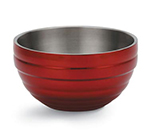 Vollrath 46591-15 3.4-qt Round Insulated Bowl - 18-ga Stainless, Dazzle Red