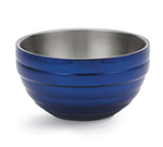 Vollrath 46591-25 3.4-qt Round Insulated Bowl - 18-ga Stainless, Cobalt Blue