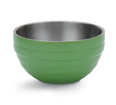 Vollrath 46591-35 3.4-qt Round Insulated Bowl - 18-ga Stainless, Green Apple