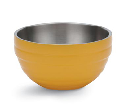 Vollrath 46591-45 3.4-qt Round Insulated Bowl - 18-ga Stainless, Nugget Yellow