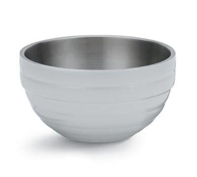 Vollrath 46591-50 3.4-qt Round Insulated Bowl - 18-ga Stainless, Pearl White