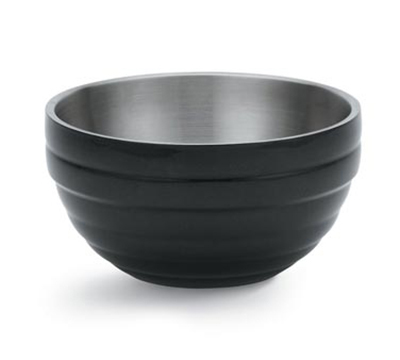 Vollrath 46591-60 3.4-qt Round Insulated Bowl - 18-ga Stainless, Black