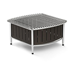 "Vollrath 4667475 Small Contoured Buffet Station - 16x16x7-1/2"" Black"