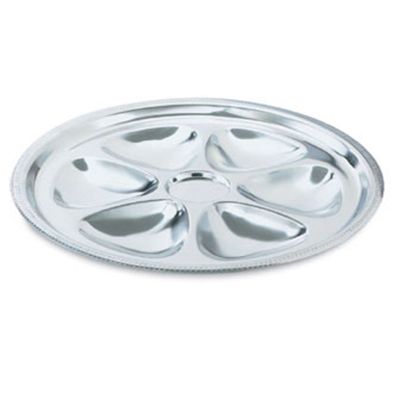 Vollrath 46745 6-Hole Oyster Plate - Stainless