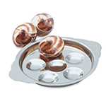 Vollrath 46746 6-Hole Snail Plate - Stainless