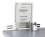 Vollrath 46797 Counter Menu Holder - Screw-On Type, Stainless