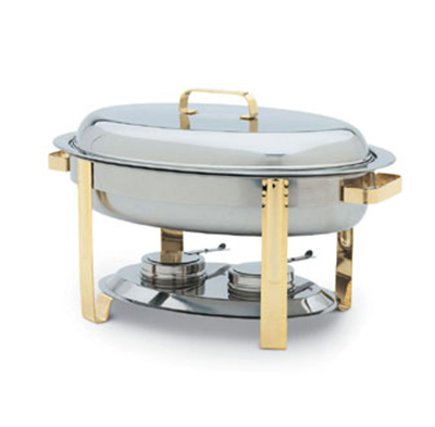 Vollrath 46327 6-qt Oval Chafer Food Pan - Mirror-Finish Stainless
