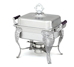 Vollrath 46847 4.3-qt Half-Size Chafer - Wood Handle, Dome Cover, Stainless
