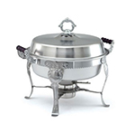 Vollrath 46860 6-qt Round Chafer - Wood Handles, Dome Cover- Stainless