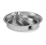 Vollrath 46861 5.2-qt Divided Round Food Pan -  Stainless