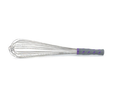 "Vollrath 47005 16"" Piano Whip - Purple Nylon Handle, Stainless"