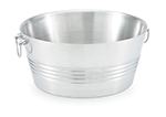 Vollrath 47225 Round Large Tabletop Beverage Bin - Stainless