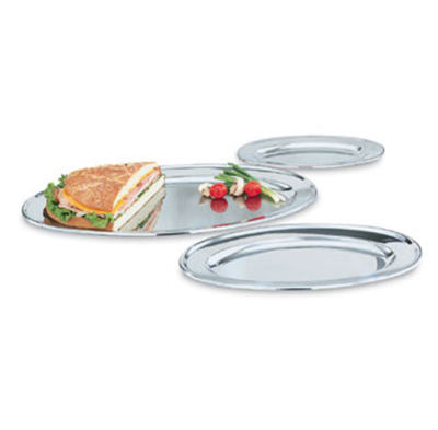 "Vollrath 47232 12"" Oval Platter - Stainless"