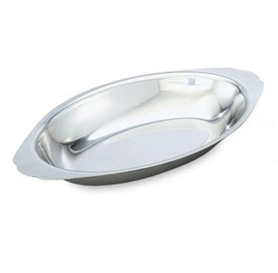Vollrath 47422 12-oz Oval Au Gratin  Pan - Stainless