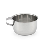 Vollrath 47556 11-oz Drinking/Soup Cup - Integral Handle, Stainless
