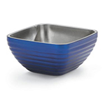 Vollrath 47634-25 3.2-qt Square Insulated Bowl - Stainless, Cobalt Blue