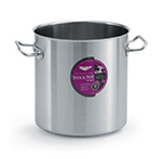 Vollrath 47724 38-qt Stock Pot - Induction Compatible, Stainless/Aluminum