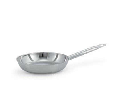 "Vollrath 47753 12.6"" Fry Pan - Plain Finish, Aluminum Bottom, 18-ga Stainless"