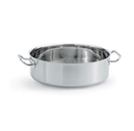 Vollrath 47760 12-qt Brazier/Casserole - Aluminum Bottom, 18-ga Stainless