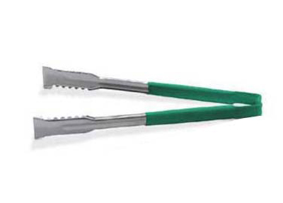 "Vollrath 4790970 9-1/2"" VersaGrip Utility Tong - Stainless, Green"